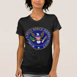 Women's American Apparel Fine Jersey Short Sleeve T-Shirt with Official Niece Seal design