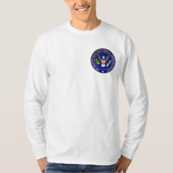 Men's Basic Long Sleeve T-Shirt with Official Uncle Seal design