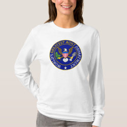 Women's Basic Long Sleeve T-Shirt with Official Aunt Seal design