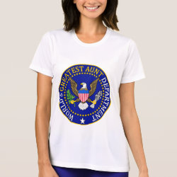 Ladies Performance Micro-Fiber T-Shirt with Official Aunt Seal design