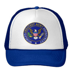 Trucker Hat with Official Aunt Seal design