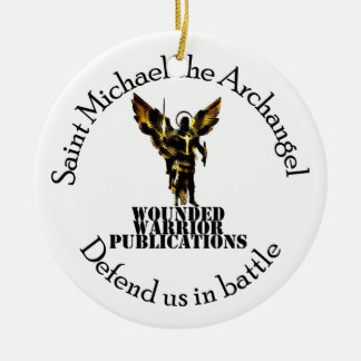 Official Wounded Warrior Publications Logo Ceramic Ornament