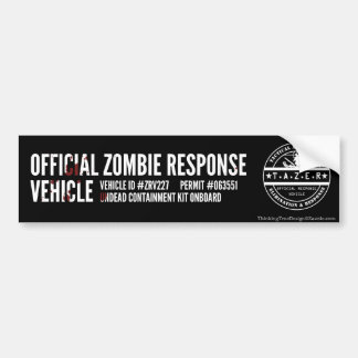 Official Zombie Response Vehicle Car Bumper Sticker
