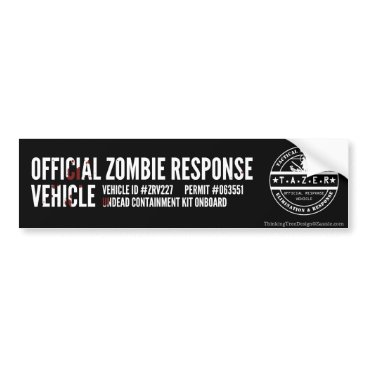 TeamTAZER Official Zombie Response Vehicle Bumper Sticker