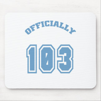 Officially 103 mouse pad