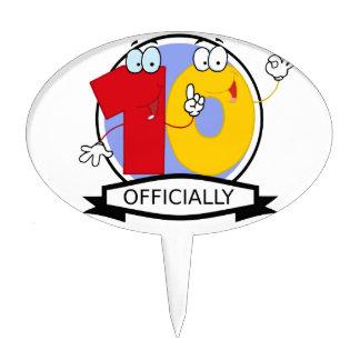 Officially 10 Birthday Banner Cake Topper