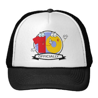 Officially 10 Birthday Banner Mesh Hats