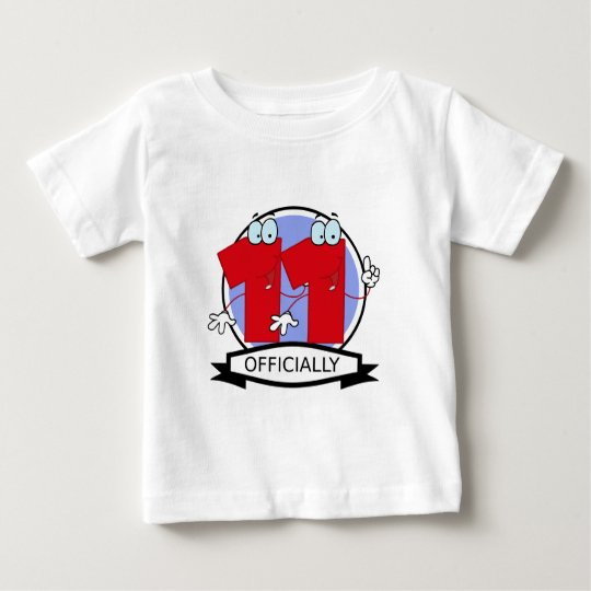 Officially 11 Birthday Banner Baby T-Shirt
