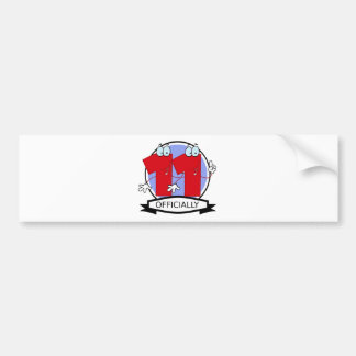 Officially 11 Birthday Banner Bumper Sticker