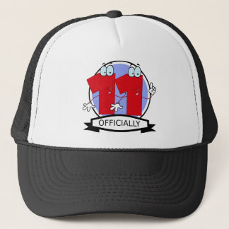Officially 11 Birthday Banner Trucker Hat