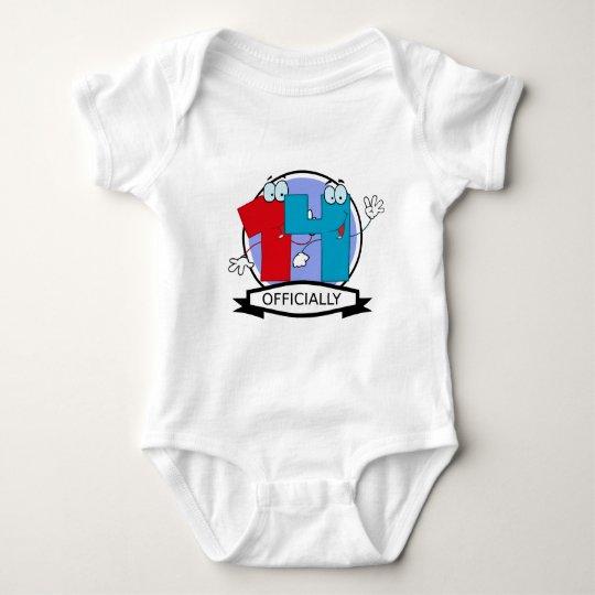 Officially 14 Birthday Banner Baby Bodysuit