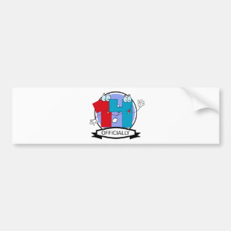 Officially 14 Birthday Banner Bumper Sticker