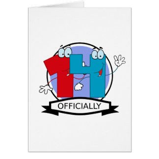Officially 14 Birthday Banner Greeting Card