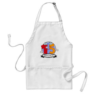 Officially 15 Birthday Banner Adult Apron