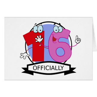 Officially 16 Birthday Banner Card