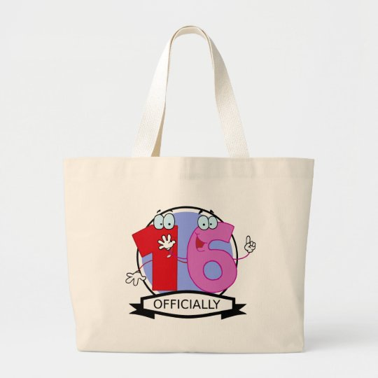 Officially 16 Birthday Banner Large Tote Bag