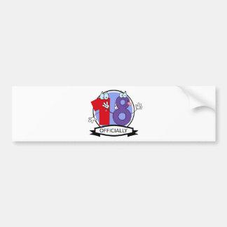 Officially 18 Birthday Banner Bumper Sticker