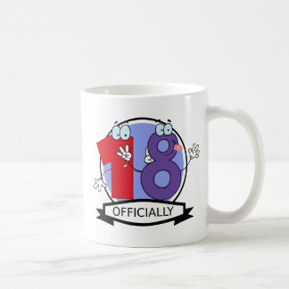 Officially 18 Birthday Banner Coffee Mug