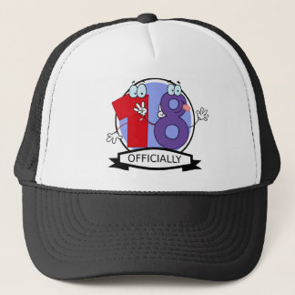 Officially 18 Birthday Banner Trucker Hat