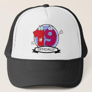Officially 19 Birthday Banner Trucker Hat