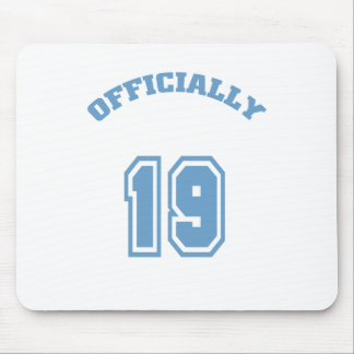 Officially 19 mouse pad
