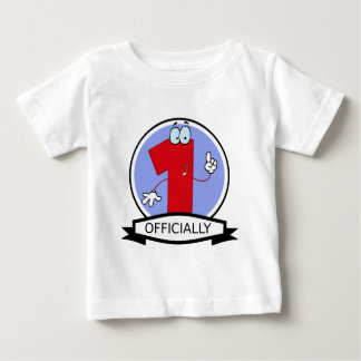 Officially 1 Birthday Banner Baby T-Shirt