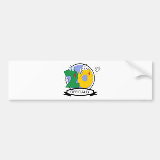 Officially 20 Birthday Banner Bumper Sticker