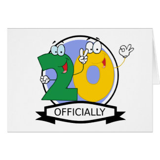 Officially 20 Birthday Banner Greeting Card