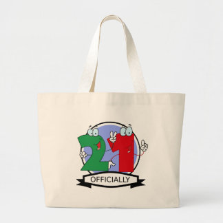 Officially 21 Birthday Banner Bag