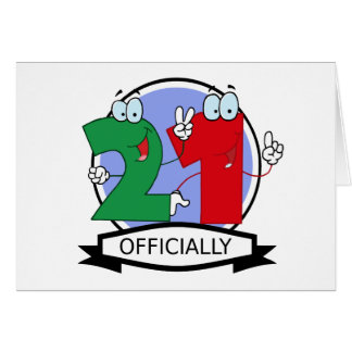 Officially 21 Birthday Banner Greeting Card