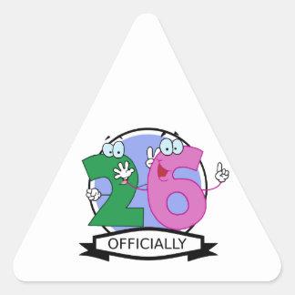 Officially 26 Birthday Banner Triangle Sticker