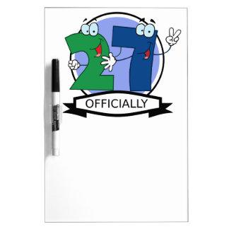 Officially 27 Birthday Banner Dry-Erase Board
