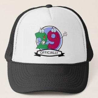 Officially 29 Birthday Banner Trucker Hat