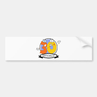 Officially 30 Birthday Banner Bumper Sticker