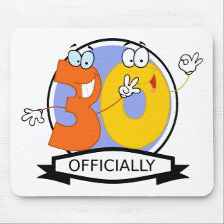 Officially 30 Birthday Banner Mouse Pad