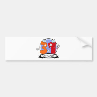 Officially 31 Birthday Banner Bumper Sticker