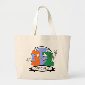 Officially 32 Birthday Banner Tote Bags