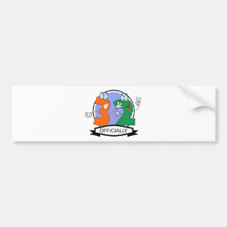 Officially 32 Birthday Banner Bumper Sticker