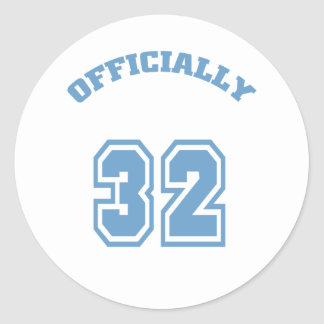 Officially 32 classic round sticker