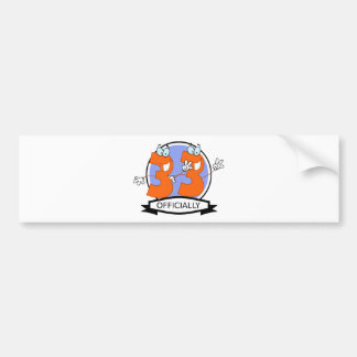 Officially 33 Birthday Banner Bumper Sticker