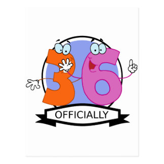 Officially 36 Birthday Banner Postcard