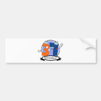 Officially 37 Birthday Banner Bumper Sticker