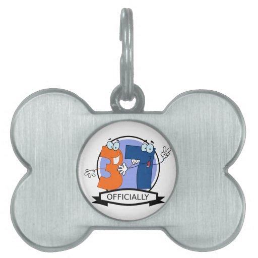 Officially 37 Birthday Banner Pet Tags