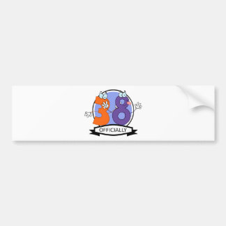 Officially 38 Birthday Banner Bumper Sticker