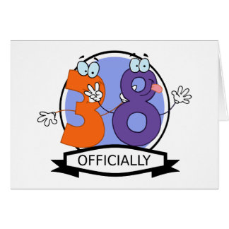 Officially 38 Birthday Banner Greeting Card
