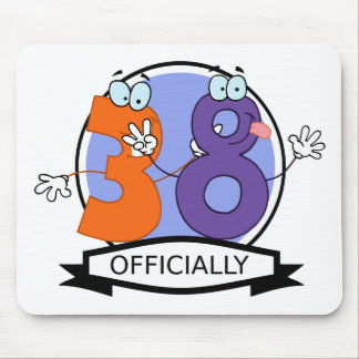 Officially 38 Birthday Banner Mouse Pad