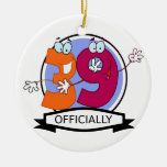Officially 39 Birthday Banner Christmas Ornament