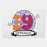 Officially 39 Birthday Banner Kitchen Towels