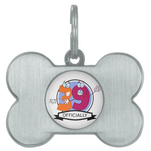 Officially 39 Birthday Banner Pet Name Tags