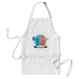 Officially 43 Birthday Banner Adult Apron